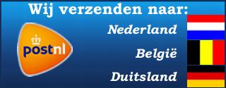Wij verzenden naar: Nederland, België & Duitsland