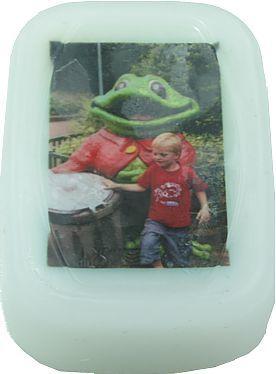 Foto in zeep maken met gietzeep