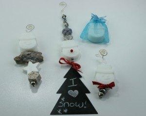 Sneeuwman met gietzeep